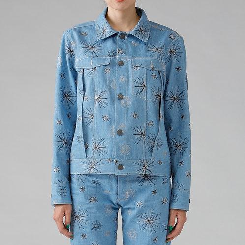 Embroidery Denim Jacket / BLUE