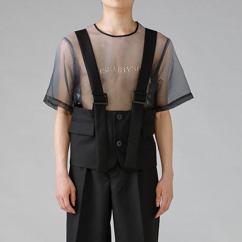Suspender Vest / TRUEBLACK