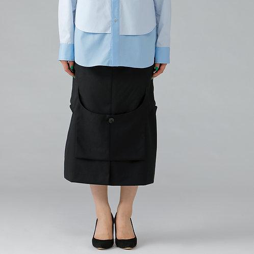 Assemble Pencil Skirt / TRUEBLACK