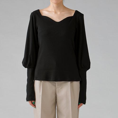 Rib Knit Tops / BLACK