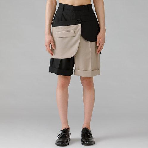 Assemble Short  Trouser /BI-COLOR