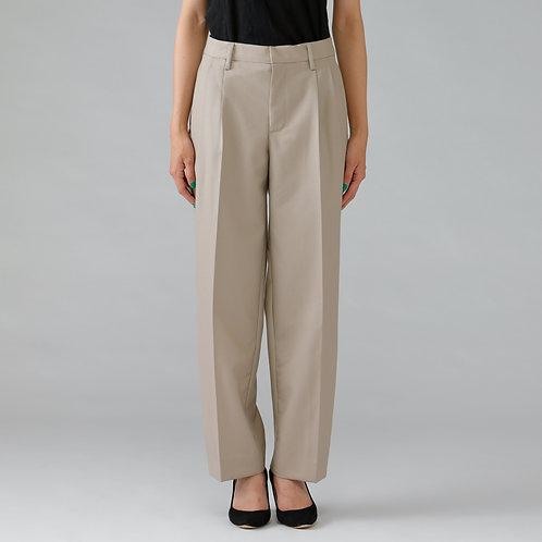 Two-tucks Trousers / BEIGE