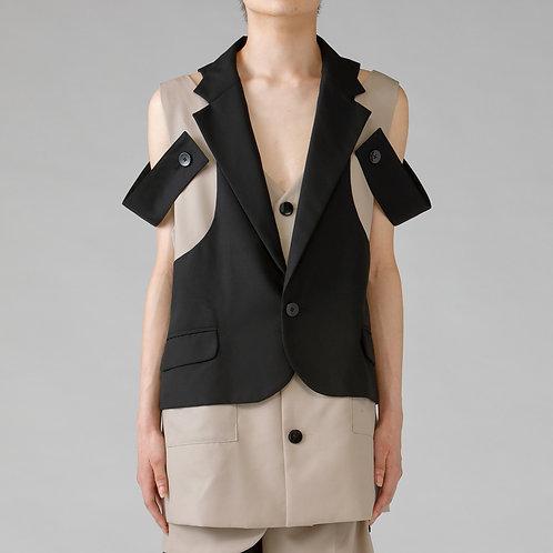Assemble Tailored Vest Jacket /BI-COLOR