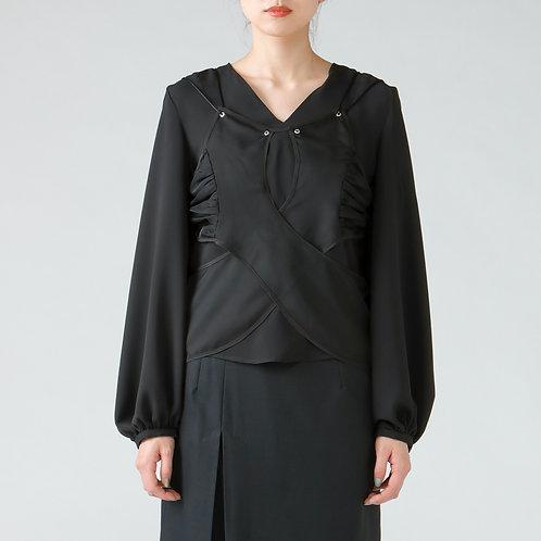 Layered blouse/BLACK