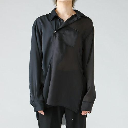 Deformation over silhouette shirt/BLACK