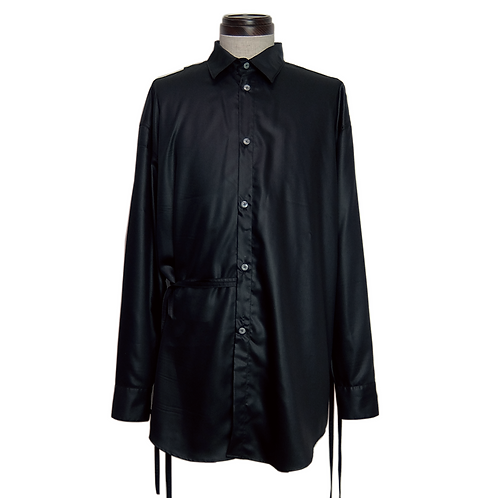 Mulch Slit Dress Shirt / BLACK