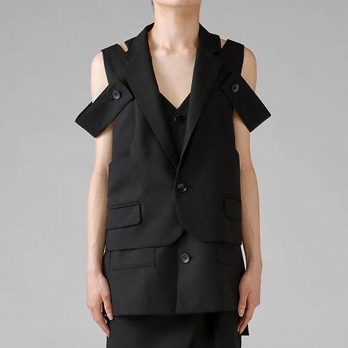 Assemble Tailored Vest Jacket / TRUE BLACK