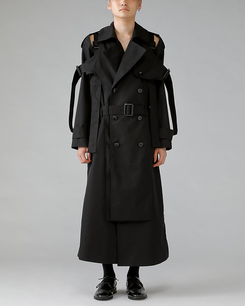 Belted Trench Coat /BLACK