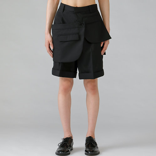 Assemble Short  Trouser / TRUE BLACK