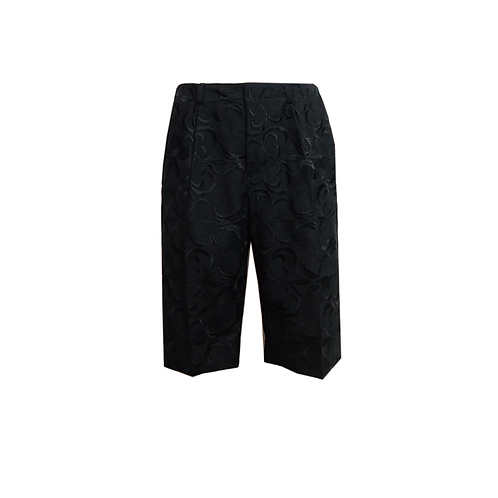 Embroidery Shorts / BLACK