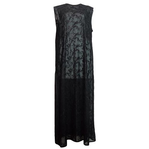 Embroidery Lace One-Piece Dress/ BLACK