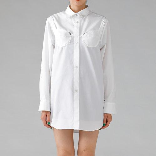 Foundation Motif Shirt / WHITE