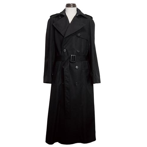 Back Detail Trench Coat / BLACK