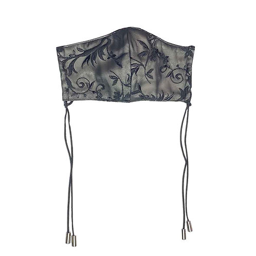 Embroidery Lace Mask/NUDIE BLACK