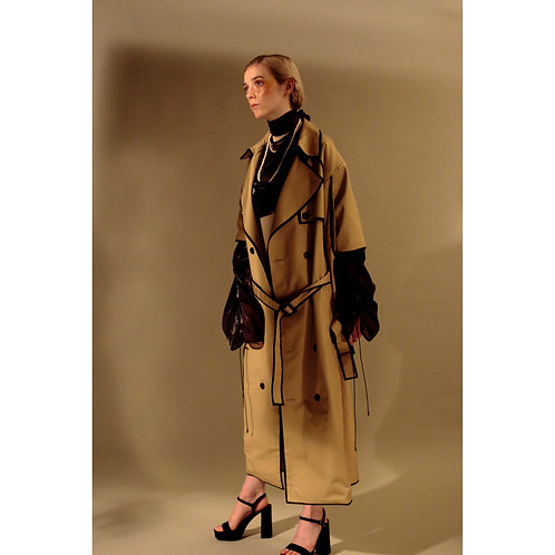 PIPNG TRENCH COAT