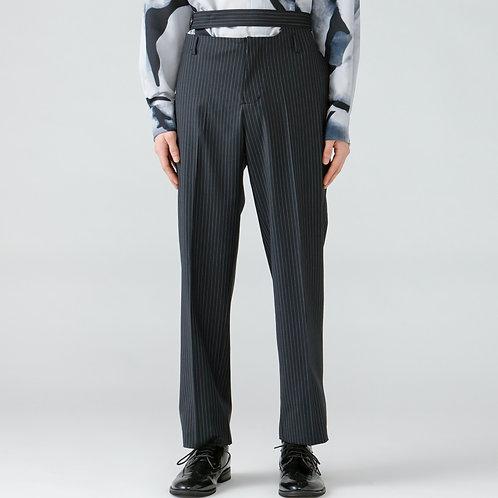Double west belt trousers/STRIPE