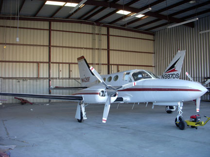 Cessna 421 airplane appraisal