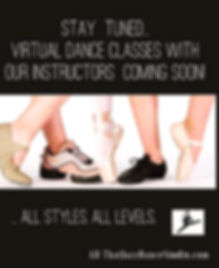 virtual dance classes announcement image