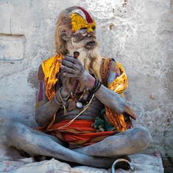 Smoking Sadhu - Nepal
