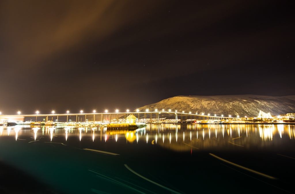 Tromsoe by night