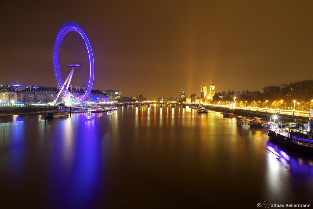 London Eye from Hungerford Bridge
