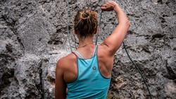 Climbing coach Fleur