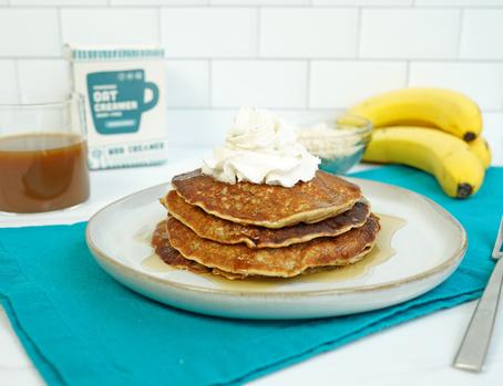 Vegan Banana Oat Pancakes!
