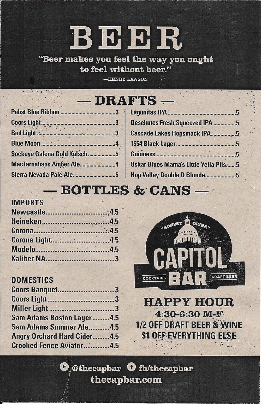 Capitol Bar Menu, Beer.jpg