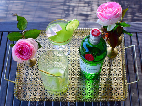 Patio Sipper: Cucumber, Gin and Rose Cocktail