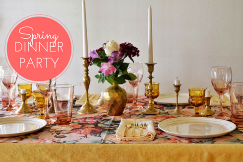 Blush and Gold Spring Dinner Party