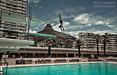 The Sea Point Pavilion.  This photo series by Nicky Newman was shortlisted for the Zeiss Photography Award 2017.  A Place of Water.  Swimming and diving.