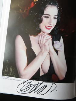 Dita Von Teese autograph