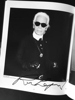 Karl Lagerfeld autograph