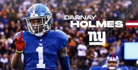 Darnay Holmes New York Giants Football