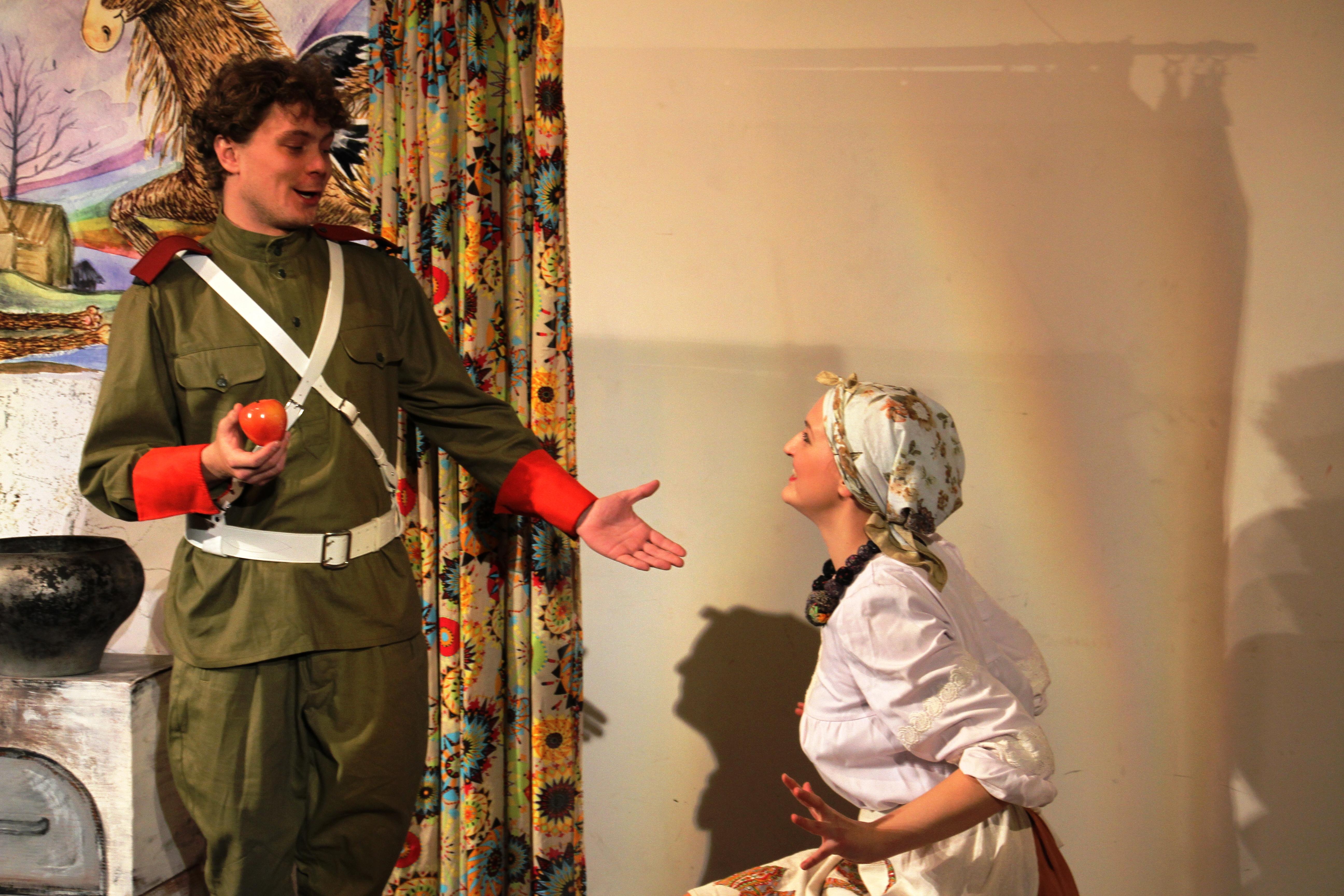 Хозяйка и солдат