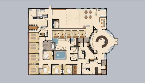 Floorplan of The Umbrella Wellness Center