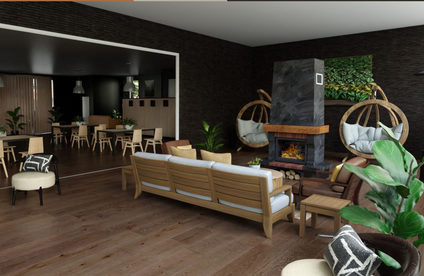 Rendering of one angle of lobby