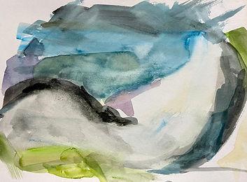 Uist beach 2 - 26cmx21cm - watercolour s