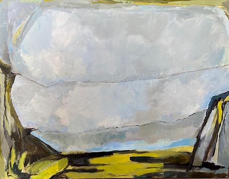 Birds Through Space 1 4ft x 3ft (Oil pai