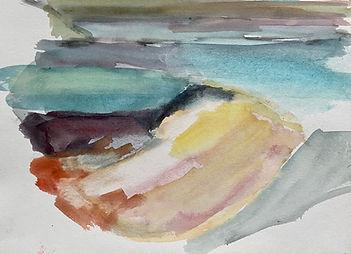 Uist beach 1 - 26cmx21cm - watercolour s