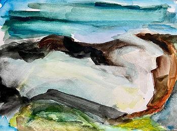 Uist beach 4 - 26cmx21cm - watercolour s