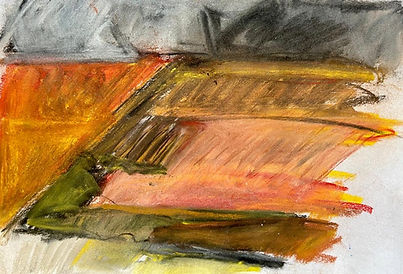 Old Peat banks - 41cmx27cm - pastel draw