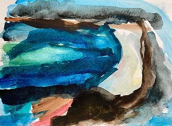 Uist beach 3 - 26cmx21cm - watercolour s
