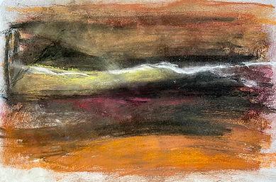 Moors with swan - 41cmx27cm - pastel dra