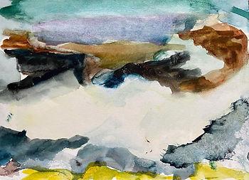 Uist beach 5 - 26cmx21cm - watercolour s
