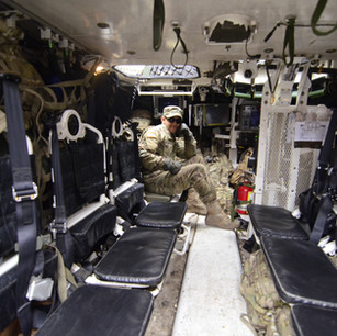 Soldier inside of a Truck