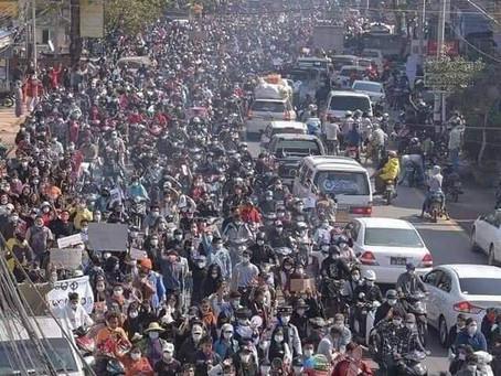 ミャンマーにおける和解、非暴力、そして民主的プロセスを呼びかける