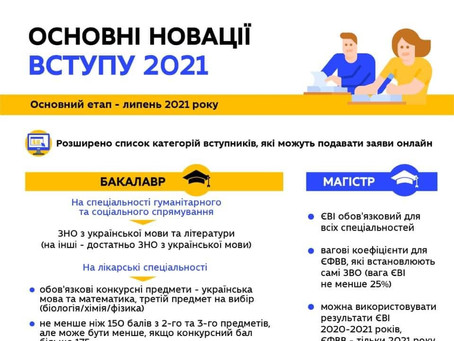 Вступ-2021: лайфхаки, цікаві поради та цифрові сервіси в освіті