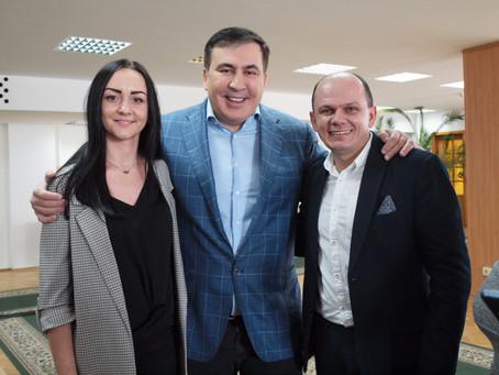 """В рамках візиту Міхеіла Саакашвілі відбувся круглий стіл: """"Демократичні моделі Європи"""""""