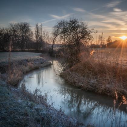 Sunrays at the creek